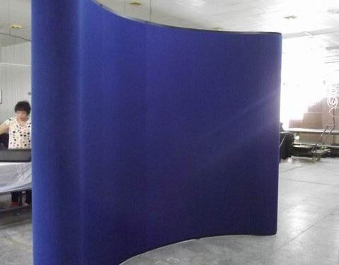 Blue Fabric Panels for Magnetic Display