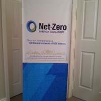 Bamboo Banner Stand with vinyl Banner