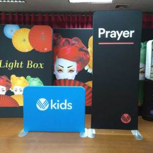 Tension fabric banner stand