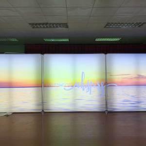 LED Fabric Lightbox Booth