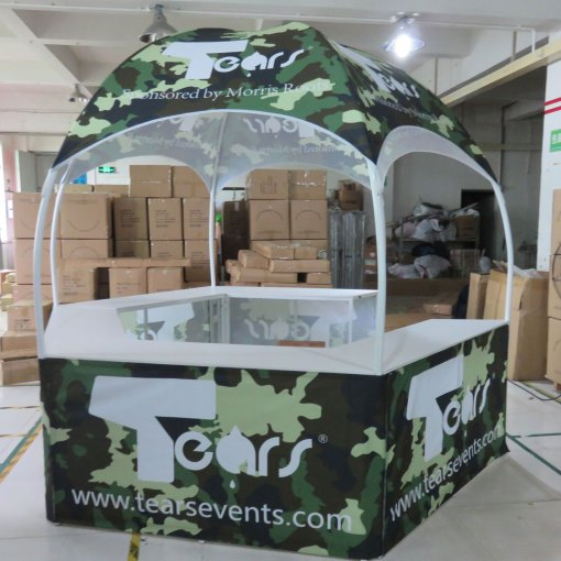 printed hexagon tents