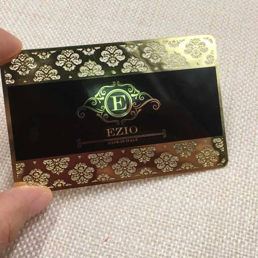 Lace Gold Metal Business Cards