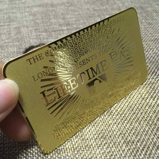 Etched Gold Membership card
