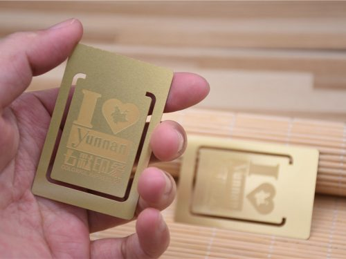 Gold Metal Card with Matte Finish