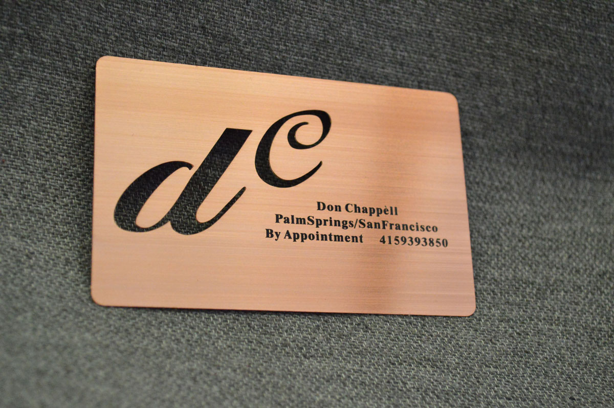 Rose-Gold-Metal-Business-Cards-California - Oh my Print Solutions