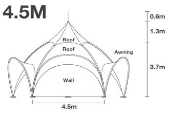 15 Foot Dome Arch tents