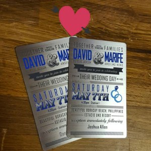 Metal Wedding Cards