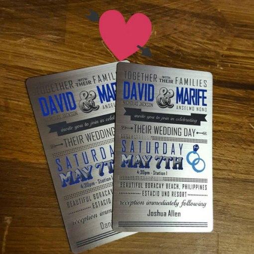 Metal Wedding Cards