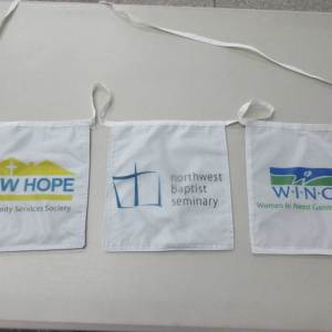 Custom Bunting Flags with Logo