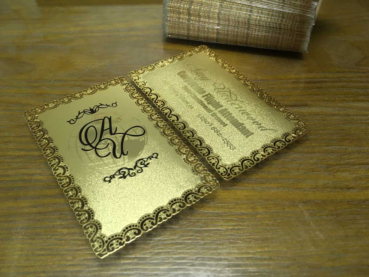 Gold metal business cards luxury and stylish free shipping gold metal business cards frosted colourmoves