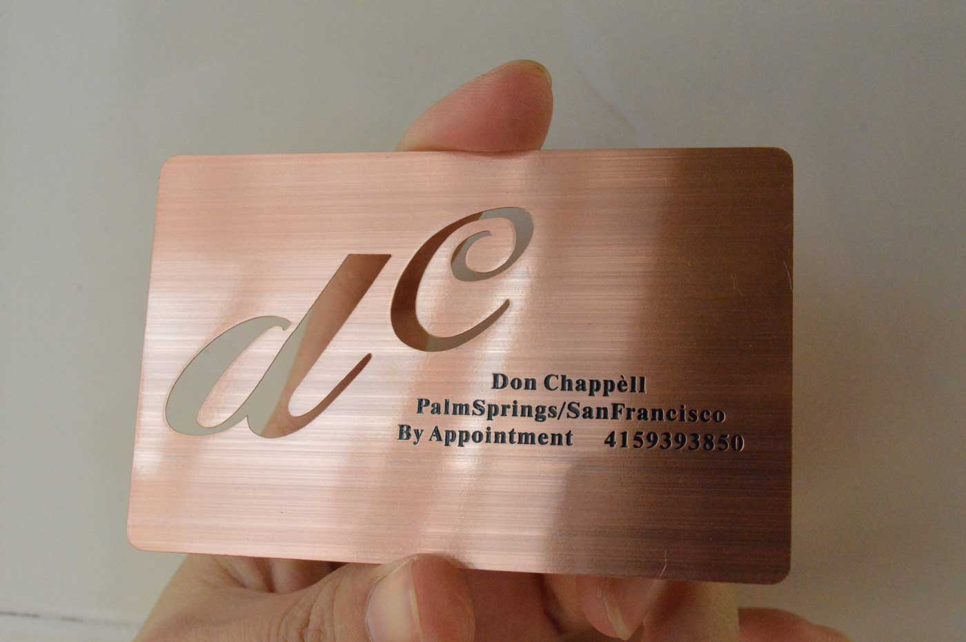 Rose-Gold-metal-Business-Cards - Oh my Print Solutions