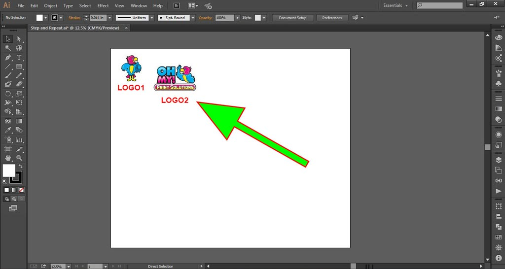 Logo Wall Instructions Illustrator Step 2