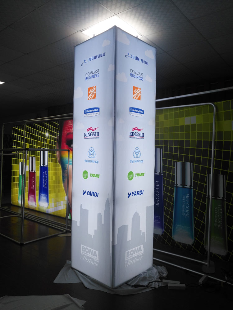 Led Pillar Lights Led Towers For Trade Show Oh My