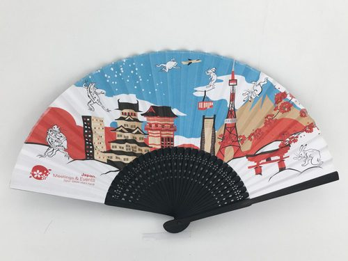 Bamboo Ribbed Hand Fans