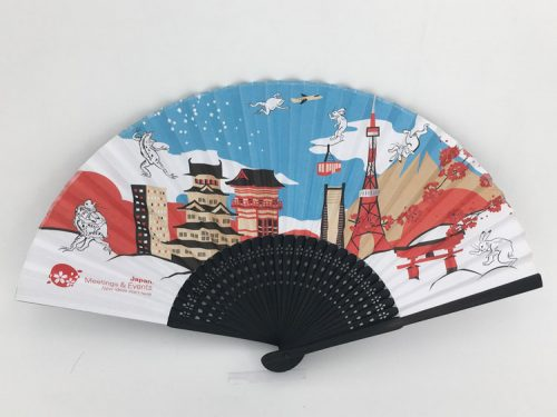 Black Bamboo Hand Fan