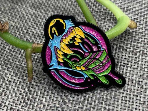 multi colour glitter pins