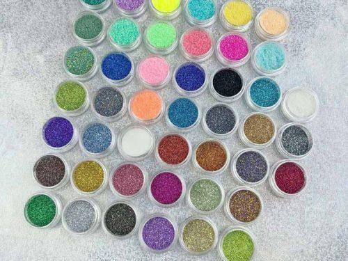 Glitter colours for Enamel Pins