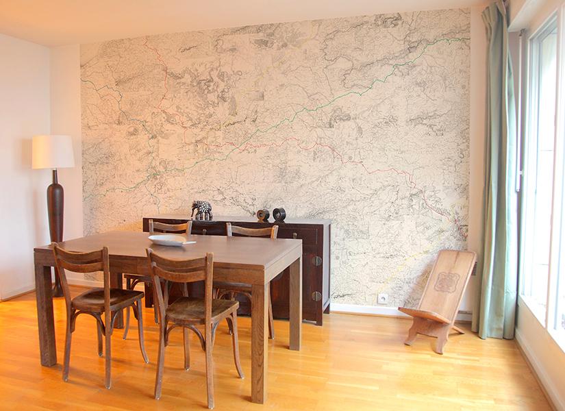 papier peint panoramique carte et territoire itineraires ohmywall