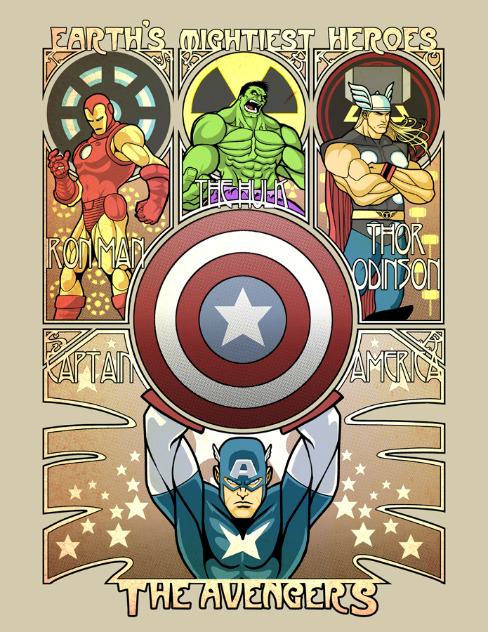 The Avengers: Assembled for Art Nouveau!