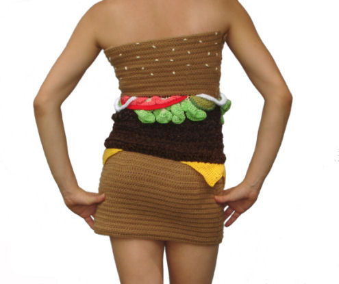 Hamburger Dress Back