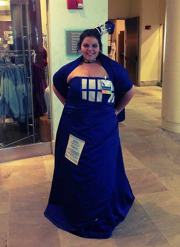TARDIS dress (door closed).