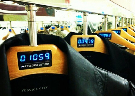 Brazil retailer using Facebook likes… on its clothing hangers