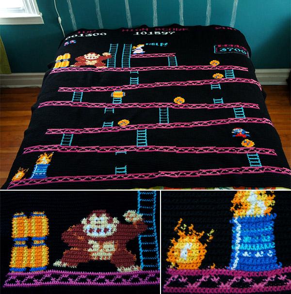 8-Bit Knitted Quilts – www.ohmz.net : 8 bit quilt - Adamdwight.com