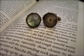 Image of Fallout 3 / Fallout New Vegas Brass Cufflinks