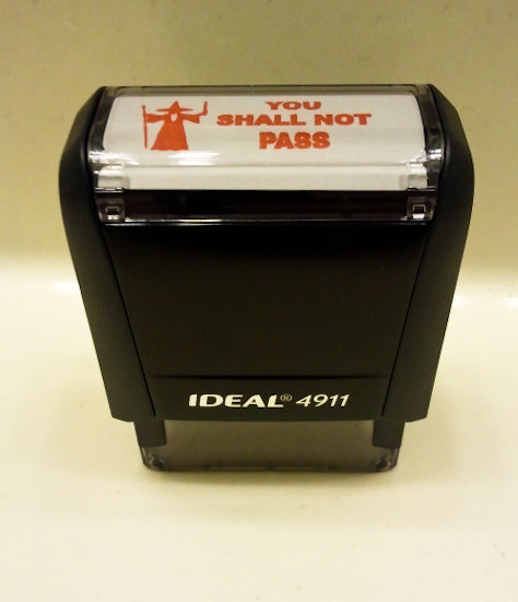 You Shall Not Pass Self-Inking Stamp (Red)