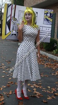 Homemade Roy Lichtenstein Comic Girl Costume