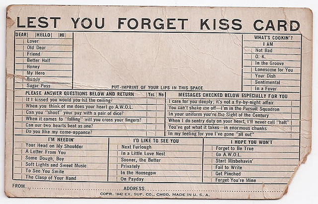 Exhibit Supply Co. kiss card