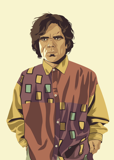 GAME OF THRONES 80/90s ERA CHARACTERS - Tyrion Art Print