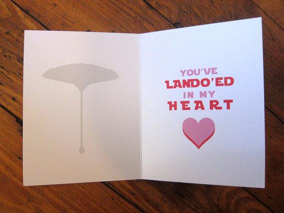 STAR WARS Valentine's Day Card featuring Lando Calrissian