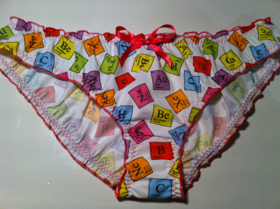 Periodic table panties - Made to order