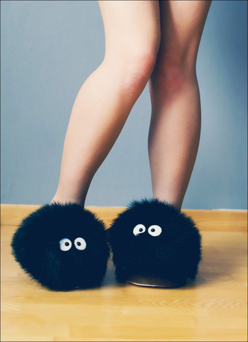 "pixelated-poptart: ""Soot sprite slippers? Yes please."""