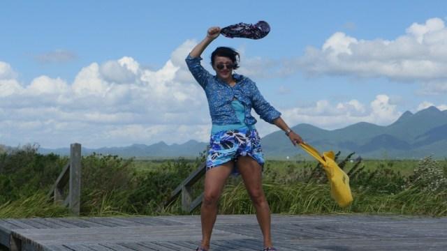 Taifun-Ausläufer am Strand von Fikiage Hama