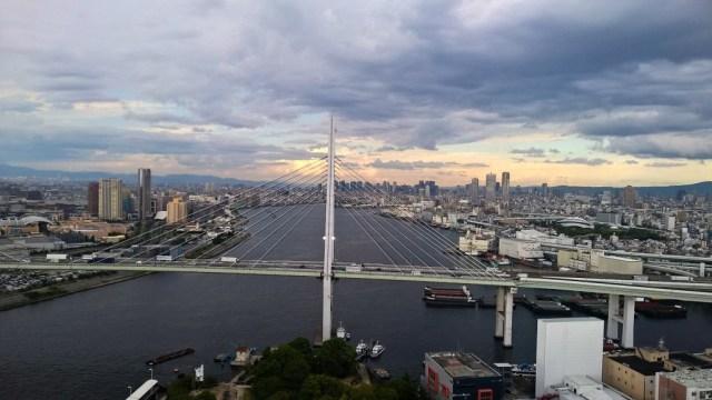 Osaka und die Burgen Japans: Blick vom Rioesenrad in der Bay-Front