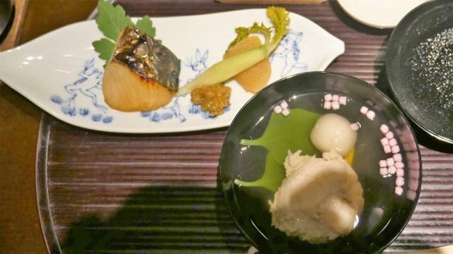 Essen in Japan immer ein Genuss: Kaiseki Dinner 2. Runde der Köstlichkeiten
