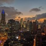 Skyline Shanghai von unserem Hotel aus gesehen