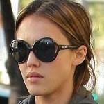 Jessica Alba in her Miu Miu shades