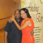 Nyasia Bowen with comedian Stephon Raickett
