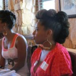 Tarin Boone of Fro Fashion Week rocking the frohawk and looking fab
