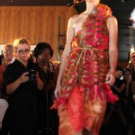 Tian Justman's Dragon Fruit inspired couture piece. Love the colors!