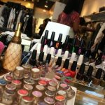 The nail bar at Polished & Primped with OPI colors