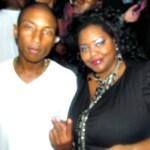 Nikka Shae with Qream creator Pharrell Williams