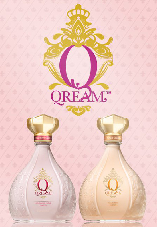 Qream's delish strawberry and peach crème liqueurs