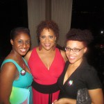 Kim Coles with party guests
