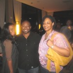 Publicist and stylist Bria Bryant, Lentheus Chaney of Urban Lux Magazine, and party guest