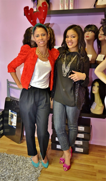Breck Bennett of Fashion Without Guilt and Eboni from The Fashionista Next Door