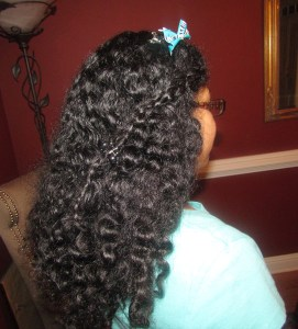 My daughters hair after using Coco Curls cream
